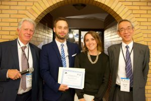 Young Researchers Award winner, Dr. Krzysztof Tyszka and his Doctoral Double Degree supervisors from two Universities